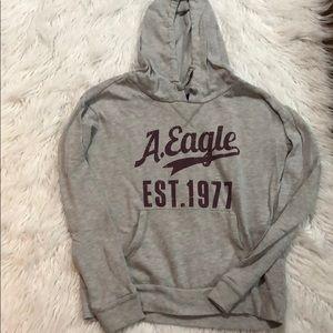 American Eagle Gray Logo Hoodie